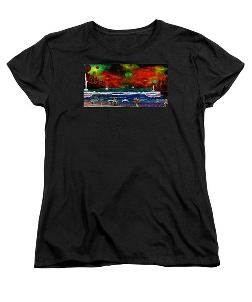 Women's T-Shirt (Standard Cut) featuring the painting The Heavens by Michael Rucker