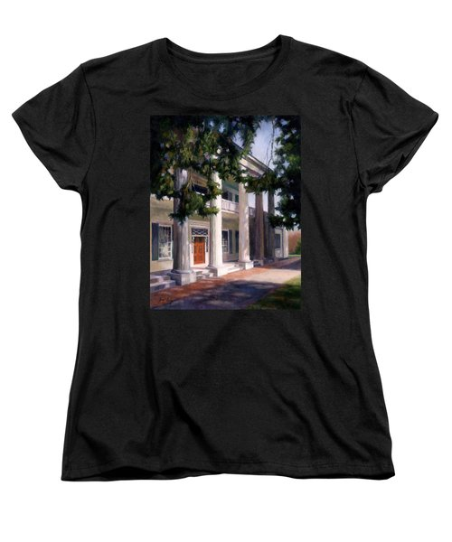 Women's T-Shirt (Standard Cut) featuring the painting The Hermitage by Janet King