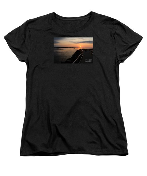 Women's T-Shirt (Standard Cut) featuring the photograph The Inlet by David Jackson