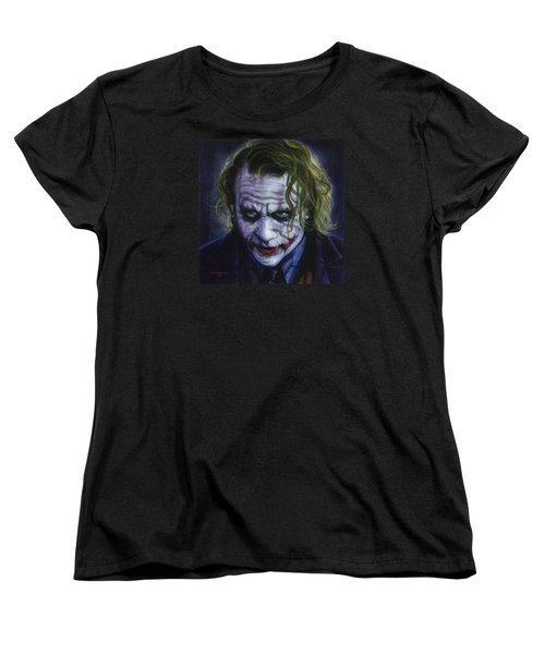 The Joker Women's T-Shirt (Standard Cut) by Tim  Scoggins