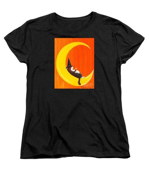 Women's T-Shirt (Standard Cut) featuring the painting The Joy Of Halloween by Jennifer Lake