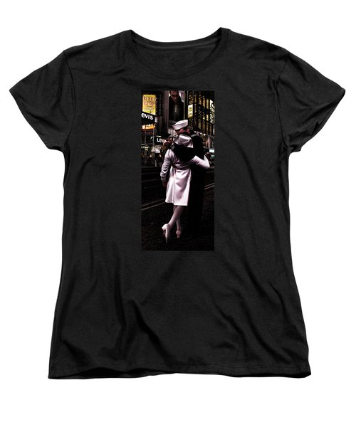 The Kiss In Times Square Women's T-Shirt (Standard Cut) by Evie Carrier