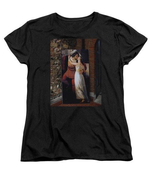 The Kiss Of Romeo And Julieta Women's T-Shirt (Standard Cut) by Natalie Ortiz