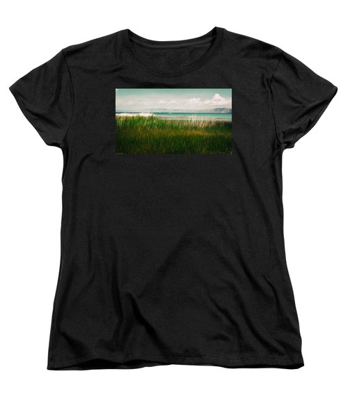 The Lake - Digital Oil Women's T-Shirt (Standard Cut) by Mary Machare
