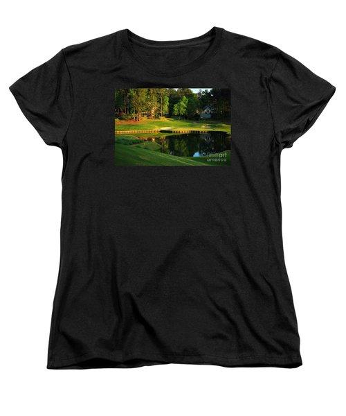 Golf At The Landing #3 In Reynolds Plantation On Lake Oconee Ga Women's T-Shirt (Standard Cut) by Reid Callaway