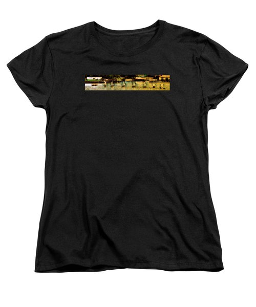 The Line Up Women's T-Shirt (Standard Cut) by Jodie Marie Anne Richardson Traugott          aka jm-ART