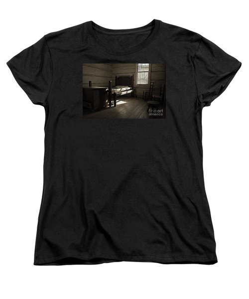 The Log Cabin C.1785 Women's T-Shirt (Standard Cut) by Robert Meanor
