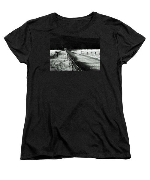 The Lone Photographer Women's T-Shirt (Standard Cut) by Douglas Stucky