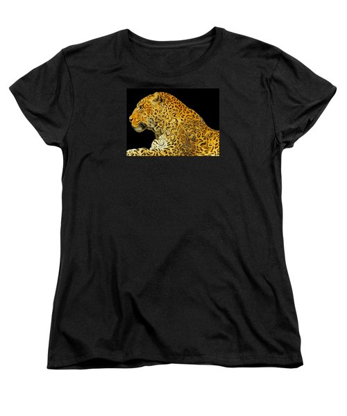 The Mighty Panthera Pardus Women's T-Shirt (Standard Cut) by Emmy Marie Vickers