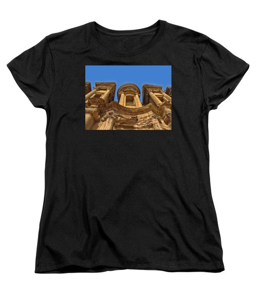 Women's T-Shirt (Standard Cut) featuring the photograph The Monastery In Petra by David Gleeson