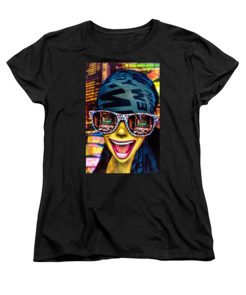 Women's T-Shirt (Standard Cut) featuring the photograph The New York City Tourist by Chris Lord