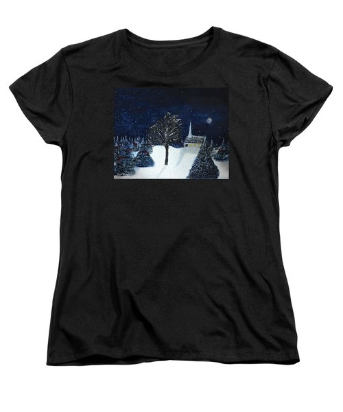 The Night Before Christmas Women's T-Shirt (Standard Cut) by Dick Bourgault