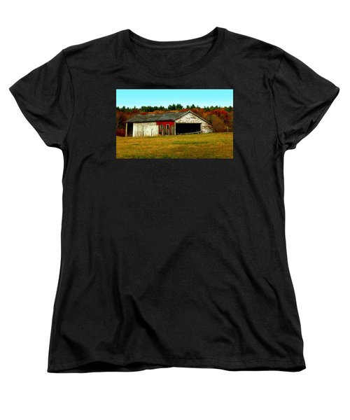 Women's T-Shirt (Standard Cut) featuring the photograph The Old Barn by Bruce Carpenter