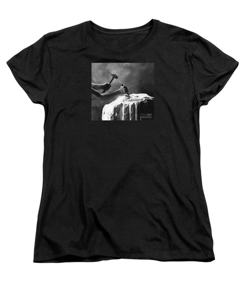 Women's T-Shirt (Standard Cut) featuring the photograph Chipping The Old Block by Mark Greenberg