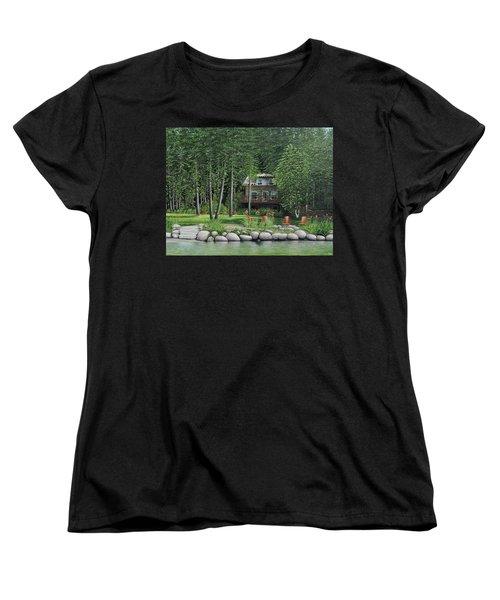 The Old Lawg Caybun On Lake Joe Women's T-Shirt (Standard Cut) by Kenneth M  Kirsch
