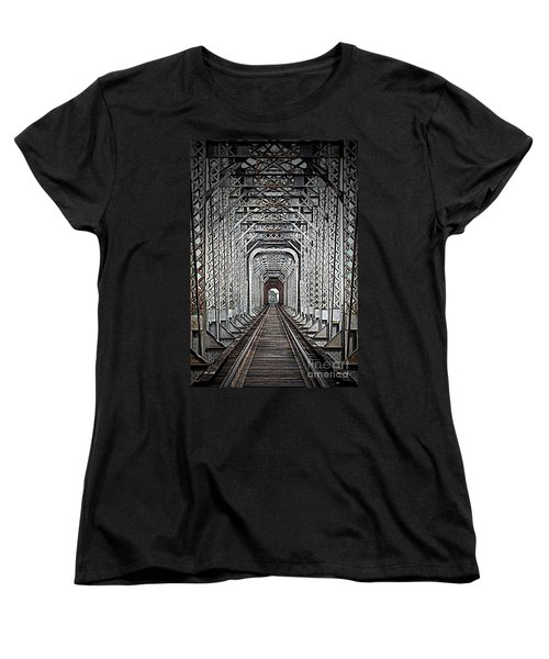Women's T-Shirt (Standard Cut) featuring the photograph The Other Side  by Barbara Chichester