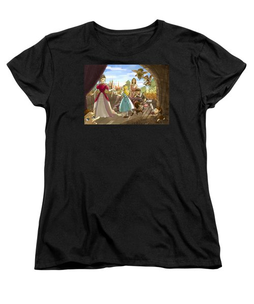 Women's T-Shirt (Standard Cut) featuring the painting The Palace Balcony by Reynold Jay