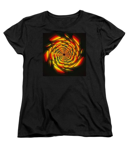 Women's T-Shirt (Standard Cut) featuring the drawing The Phi Stargate by Derek Gedney