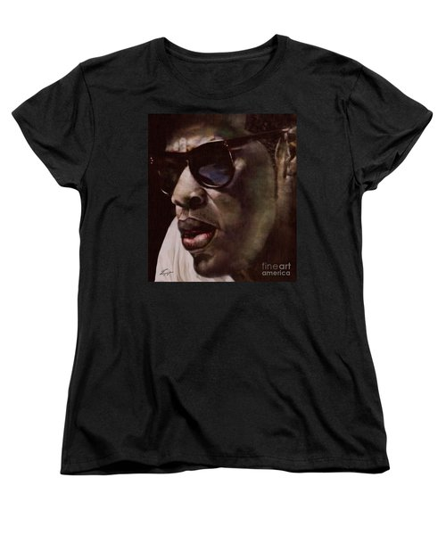 The Pied Piper Of Intrigue - Jay Z Women's T-Shirt (Standard Cut) by Reggie Duffie