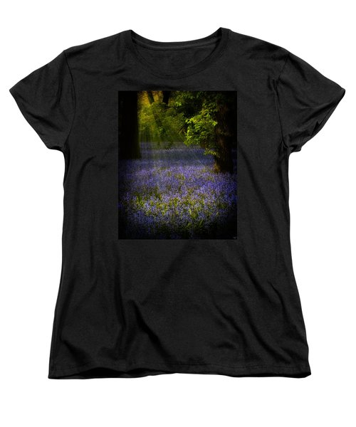 Women's T-Shirt (Standard Cut) featuring the photograph The Pixie's Bluebell Patch by Chris Lord