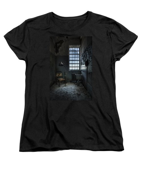 Women's T-Shirt (Standard Cut) featuring the photograph The Private Room - Abandoned Asylum by Gary Heller