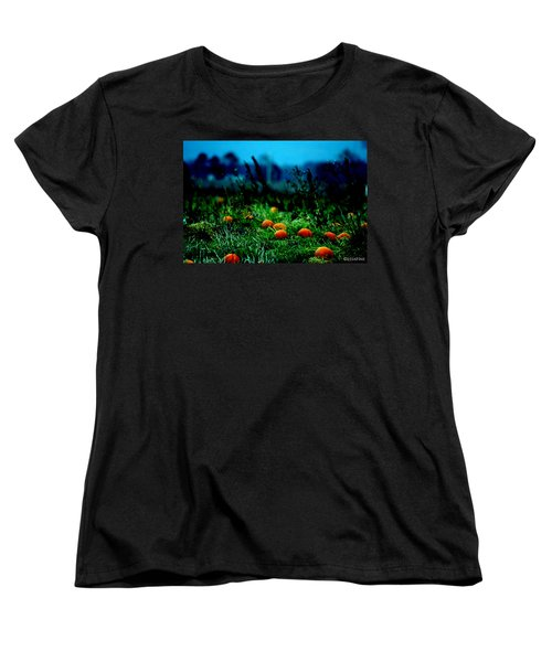 Women's T-Shirt (Standard Cut) featuring the photograph The Pumpkin Patch by Lesa Fine