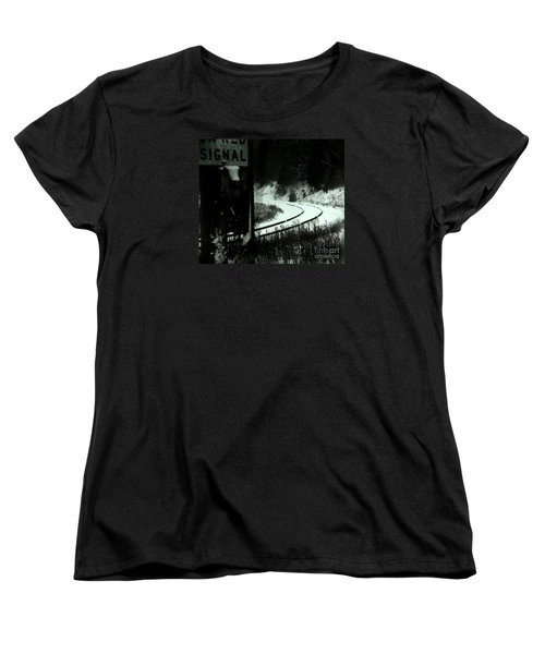 The Rail To Anywhere Women's T-Shirt (Standard Cut) by Linda Shafer