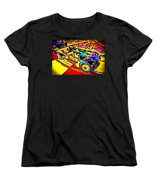 The Real Batmobile Women's T-Shirt (Standard Cut) by Olivier Le Queinec