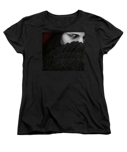 Women's T-Shirt (Standard Cut) featuring the painting The Reckoning by Pat Erickson