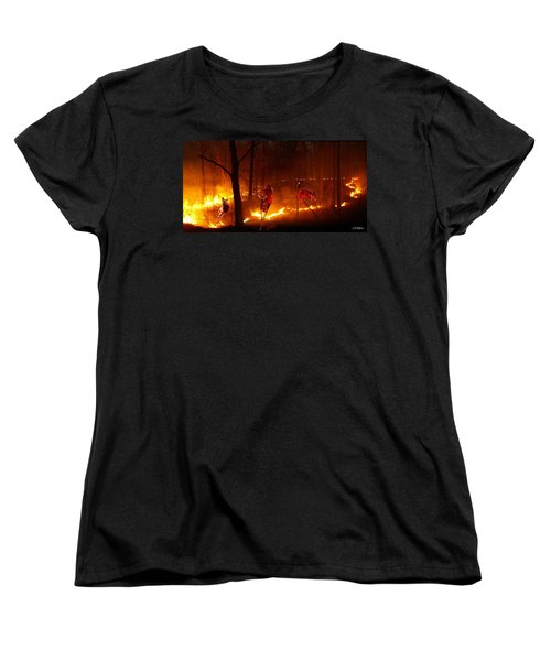 The Ring Of Fire Women's T-Shirt (Standard Cut) by Bill Stephens