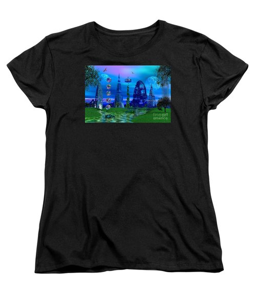 Women's T-Shirt (Standard Cut) featuring the photograph The River Quinque by Mark Blauhoefer