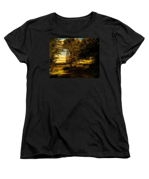 Women's T-Shirt (Standard Cut) featuring the photograph The Road To Litlington by Chris Lord
