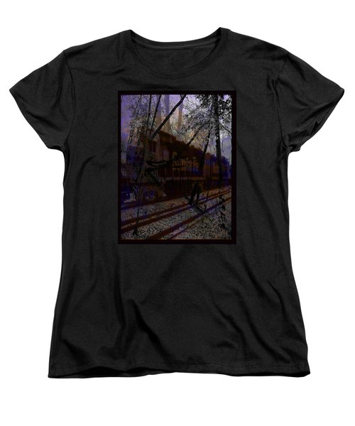 Women's T-Shirt (Standard Cut) featuring the digital art The Santa Fe by Cathy Anderson