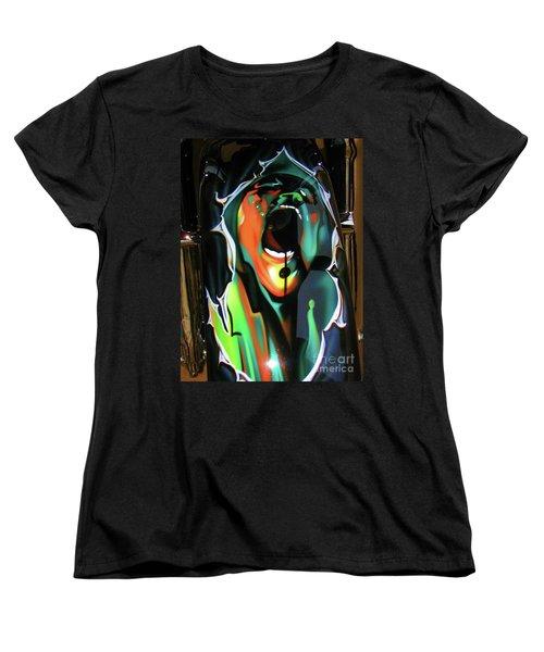 Women's T-Shirt (Standard Cut) featuring the photograph The Scream - Pink Floyd by Susan Carella