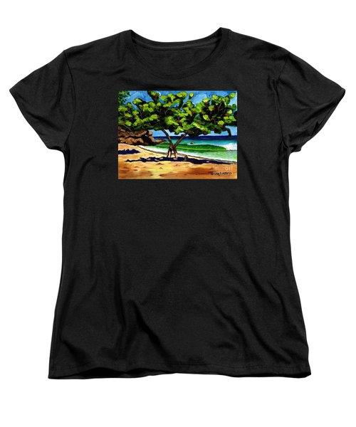 Women's T-Shirt (Standard Cut) featuring the painting The Sea-grape Tree by Laura Forde