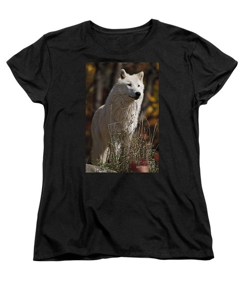 Women's T-Shirt (Standard Cut) featuring the photograph The Sentinel by Wolves Only