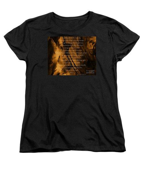 The Serenity Prayer Women's T-Shirt (Standard Cut) by Andrea Anderegg