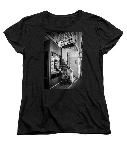 The Sidewalk Humidor  Women's T-Shirt (Standard Cut) by Melinda Ledsome