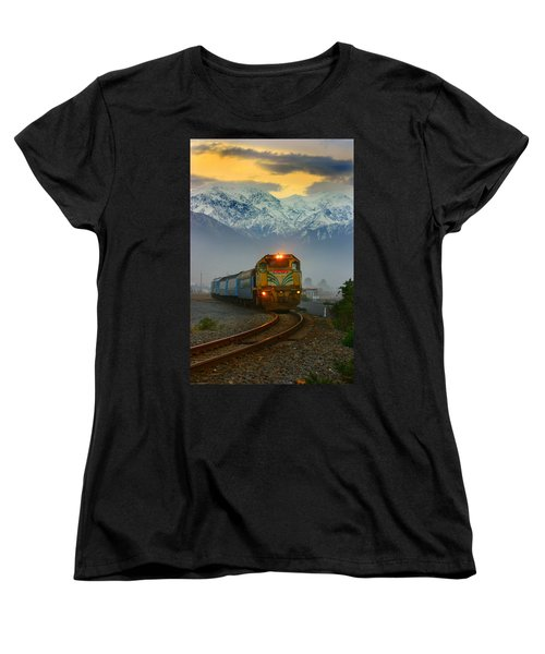 The Southerner Train New Zealand Women's T-Shirt (Standard Cut) by Amanda Stadther