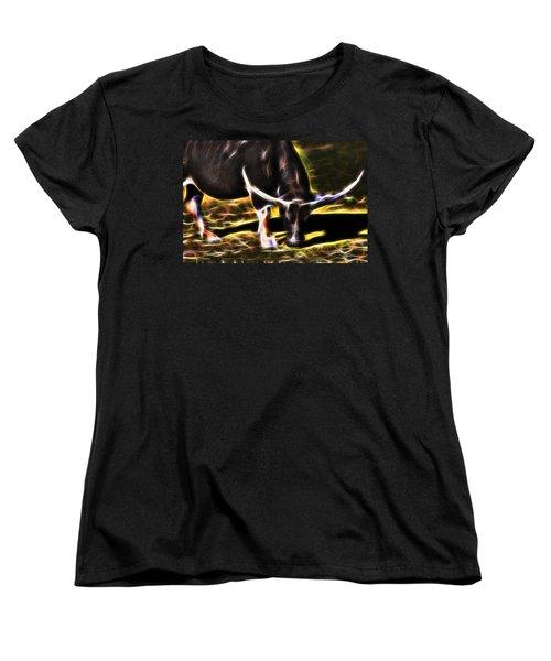 The Sparks Of Water Buffalo Women's T-Shirt (Standard Cut) by Miroslava Jurcik