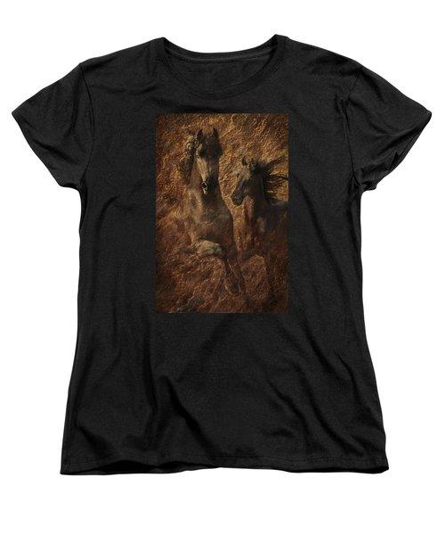 The Spirit Of Black Sterling Women's T-Shirt (Standard Cut) by Melinda Hughes-Berland