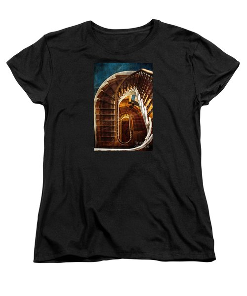 Women's T-Shirt (Standard Cut) featuring the photograph The Staircase by Arlene Carmel