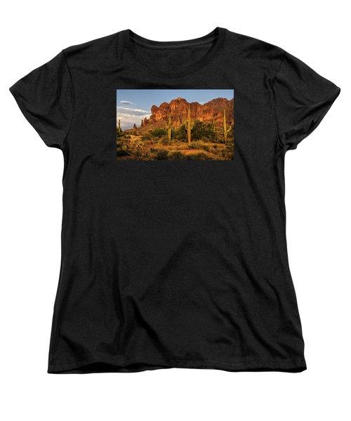 The Superstitions At Sunset  Women's T-Shirt (Standard Cut) by Saija  Lehtonen