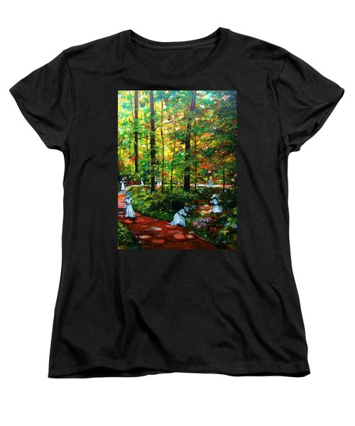 Women's T-Shirt (Standard Cut) featuring the painting The Trials by Emery Franklin