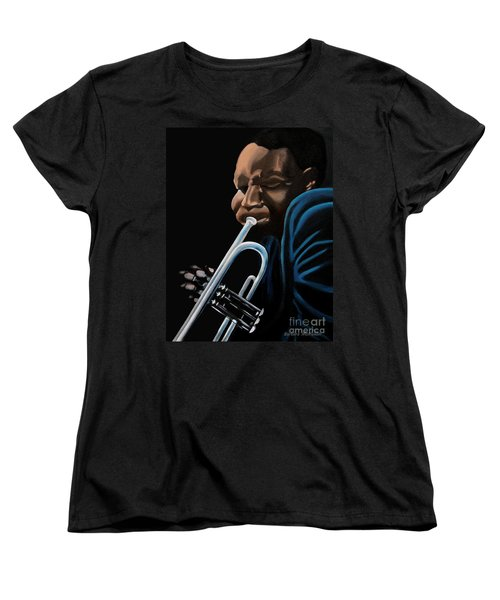 Women's T-Shirt (Standard Cut) featuring the painting The Trumpeter by Barbara McMahon