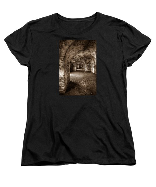 The Tunnels Of Fort Pike Women's T-Shirt (Standard Cut) by Tim Stanley