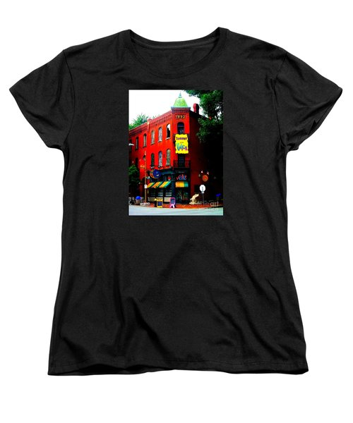 The Venice Cafe' Edited Women's T-Shirt (Standard Cut) by Kelly Awad