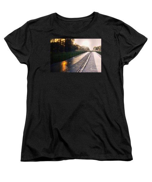 Women's T-Shirt (Standard Cut) featuring the photograph The Vietnam Wall Memorial  by John S