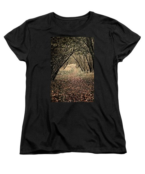 The Walk Women's T-Shirt (Standard Cut) by Meirion Matthias