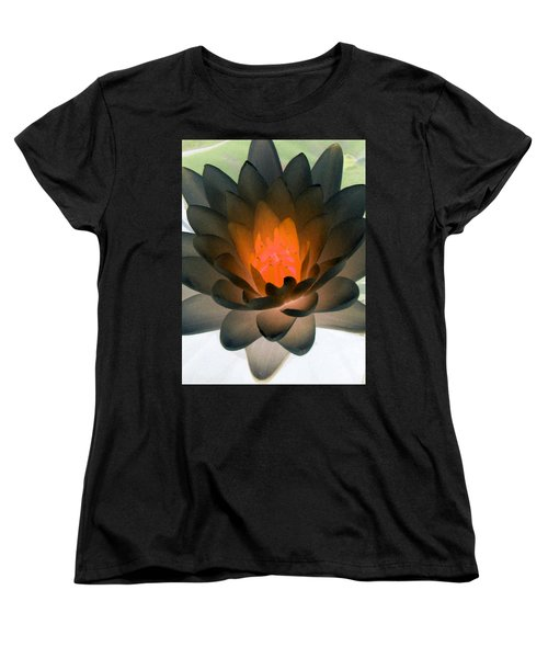 Women's T-Shirt (Standard Cut) featuring the photograph The Water Lilies Collection - Photopower 1036 by Pamela Critchlow